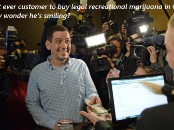 first ever marijuana customer