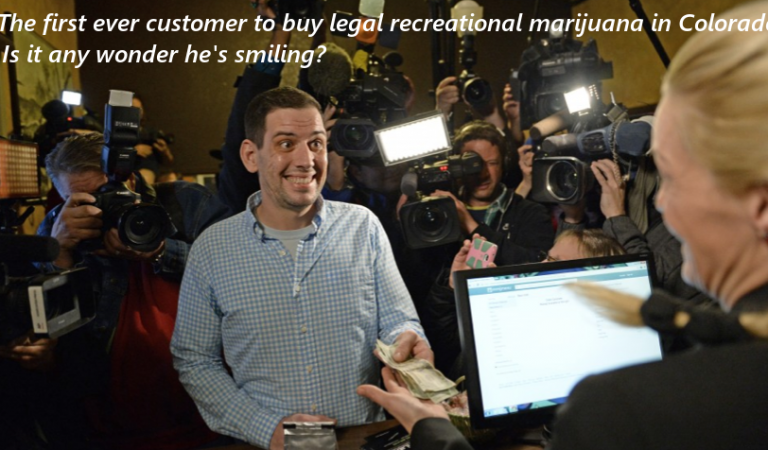 Colorado's First Ever Recreational Marijuana Sale