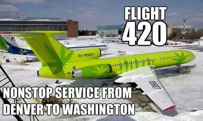 Flight 420 Non Stop Between Washington & Colorado