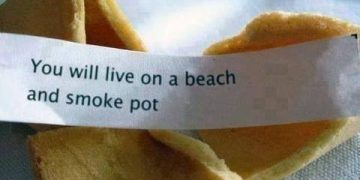 live on a beach smoke weed fortune cookie