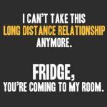 long distance relationship fridge munchies