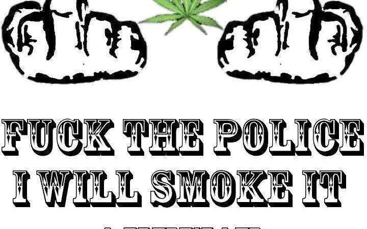 Fuck the police, I'll smoke it anyway!