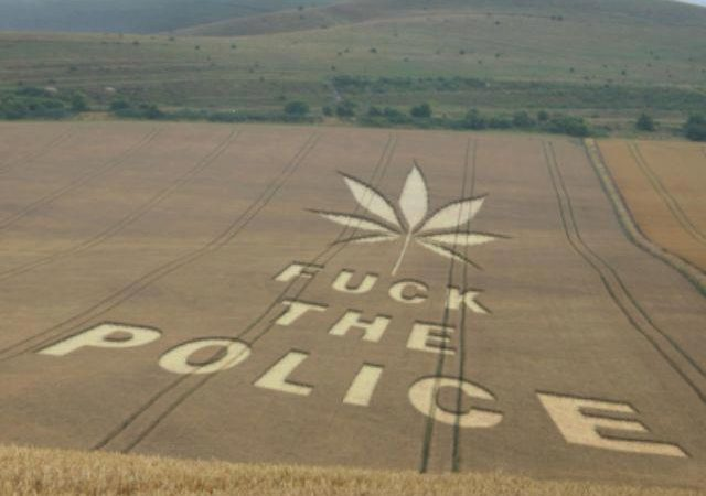 Fuck the police crop circle