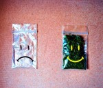 smiling bag full of weed