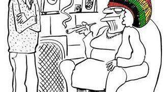 Pot Smoking Granny rasta