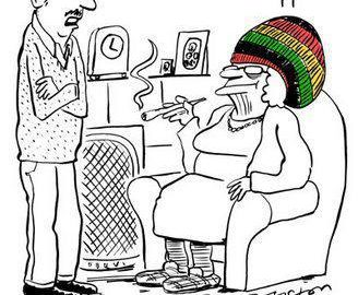 Pot Smoking Granny rasta