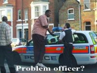 problem officer giant black man