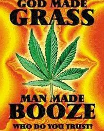 man made booze god grass