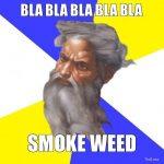 god weed smoke meme