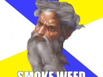 god weed smoke meme