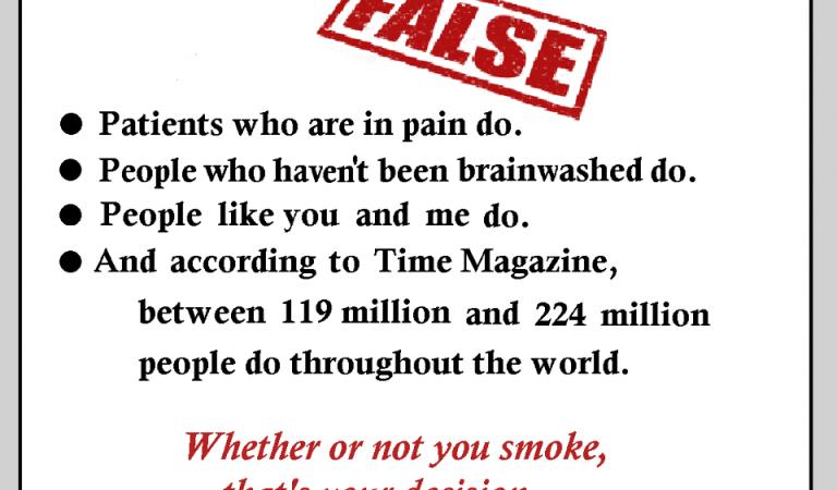 Bad People Smoke Marijuana – FALSE