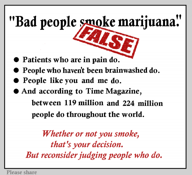 bad people smoke weed