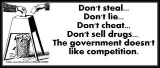 Don't steal, don't lie, don't cheat, don't sell drugs