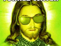 water into weed hipster jesus