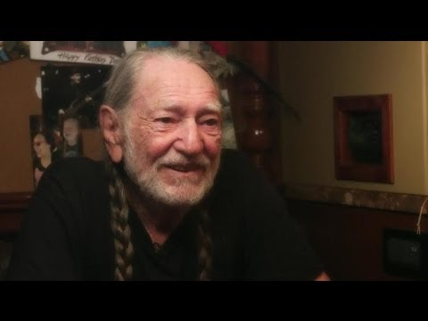 Larry King interviews Willie Nelson on his tour bus