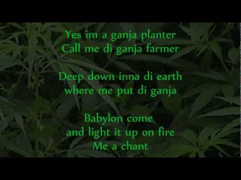Marlon Asher – Ganja Farmer (Ganja farmer Riddim) Lyrics on Screen