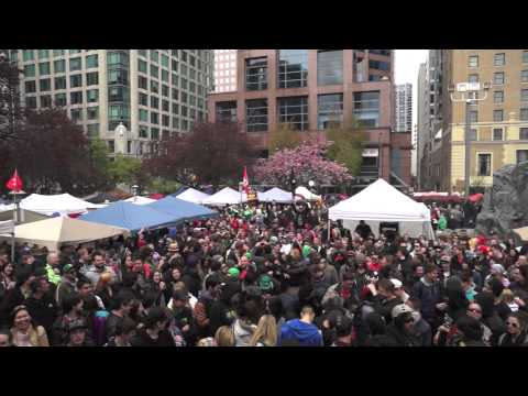 Worlds Biggest Open Marijuana Market – Vancouver's 420 Rally 2014