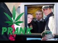 Marijuana Prank drive through fast food