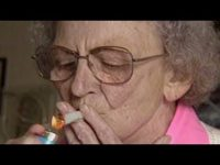 Grandma smoking weed