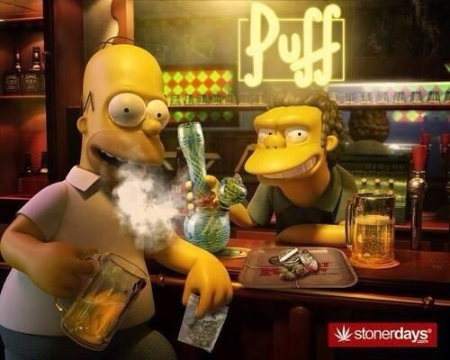 Homer Simpson Changes to weed!