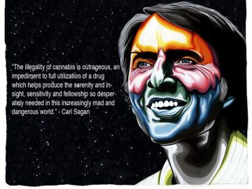 Carl Sagan Cannabis Quote meme