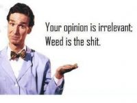 opinion irrelevant weed is shit
