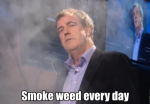 British...Ammm...Jeremy Clarkson smokes Top Gear 'erryday