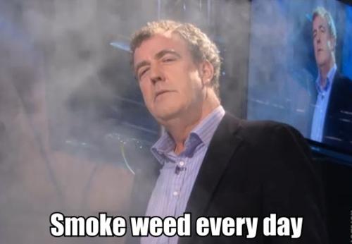 British...Ammm...Jeremy Clarkson smokes Top Gear 'erryday
