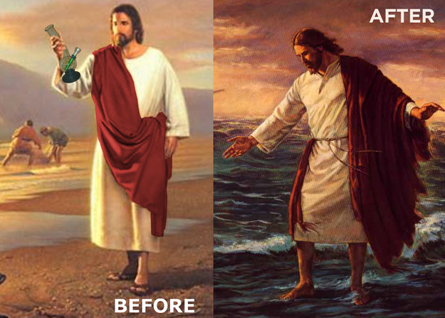 Jesus: Before & After Hitting the Bong