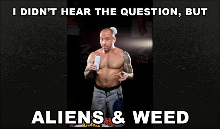 answer is aliens and weed joe rogan