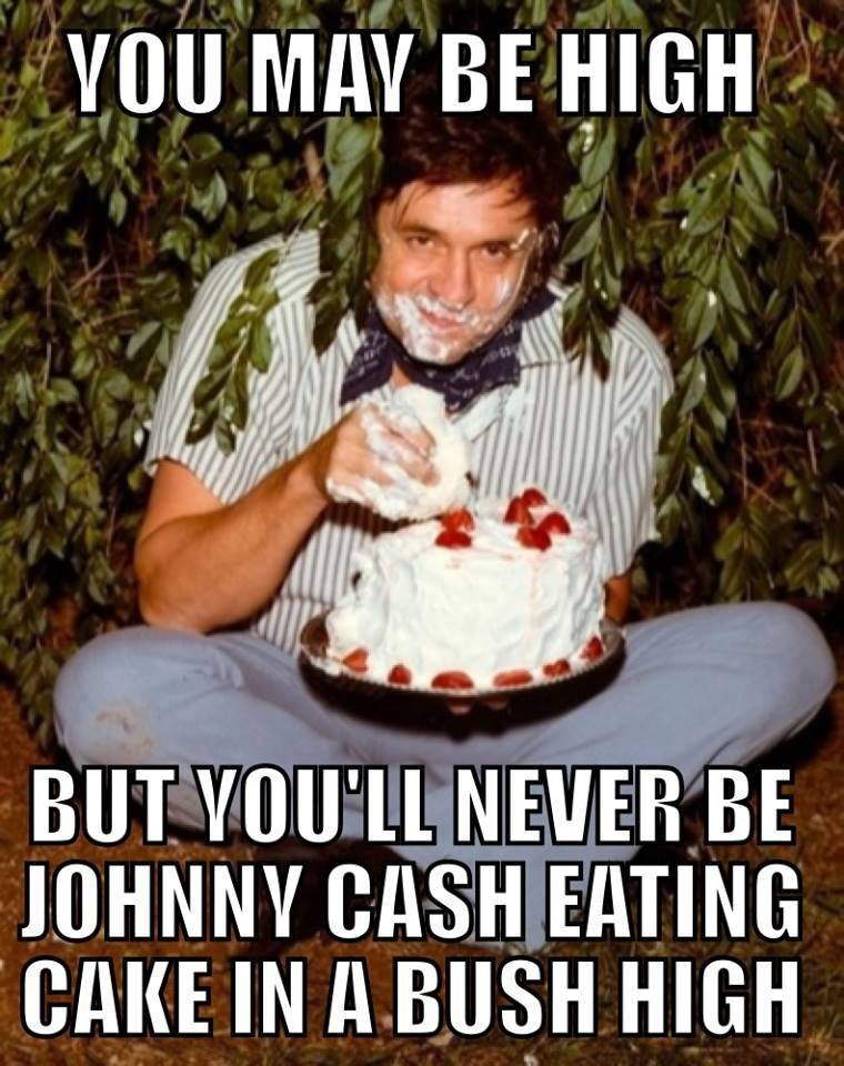 eating cake johnny cash high
