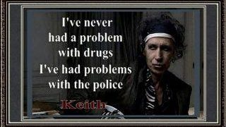 Keith Richards drugs quote meme