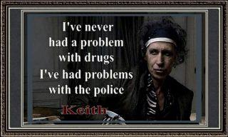 Keith Richards drugs quote
