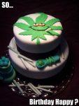 birthday cake marijuana smoker toker