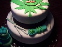 birthday cake marijuana smoker toker