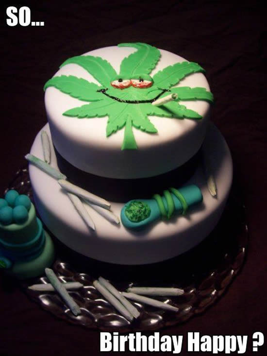 A collection of Weed Birthday Cakes