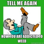 marijuana addiction meme
