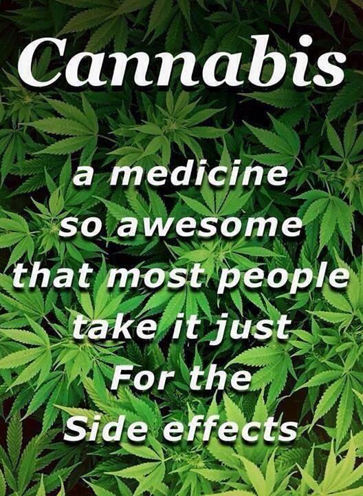 cannabis medicine side effects meme