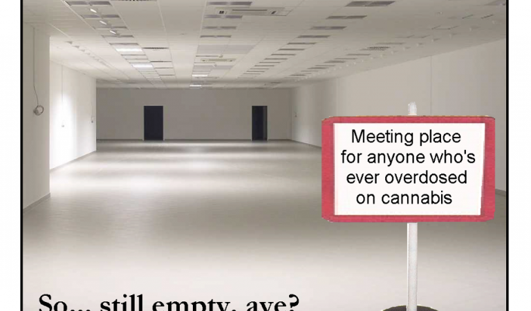 Meeting place for people who've overdosed on cannabis