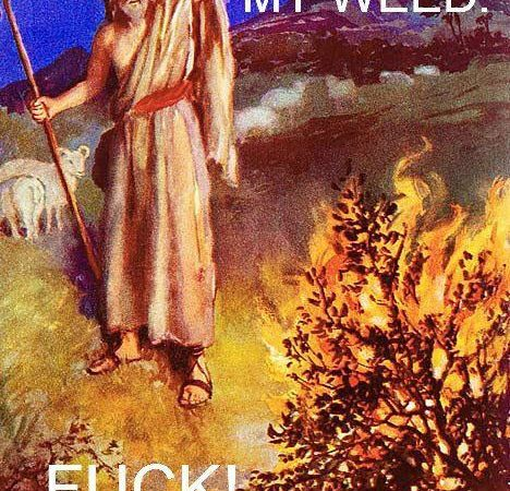 Moses and the buring bush