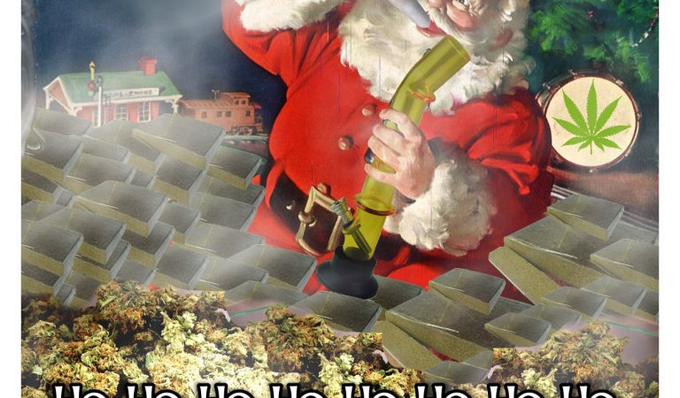 Cannabis Christmas Card by Norris Nuvo