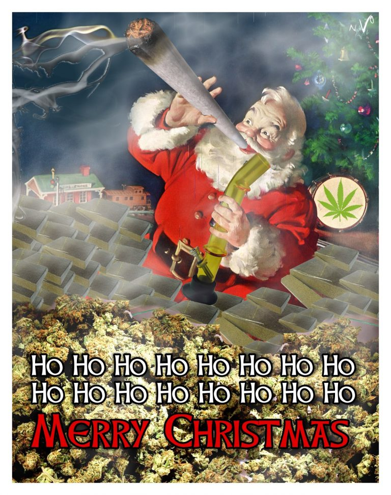 cannabis christmas card
