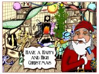 marijuana christmas card