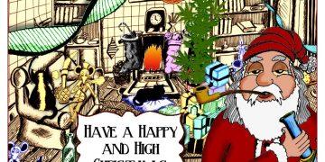 marijuana christmas card