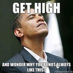 President Barack Obama feeling high