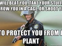 Police Oppression cannabis plants beat