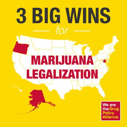Oregon, Alaska Washington dc legalized