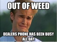 out of weed face dealers phone dawson crying