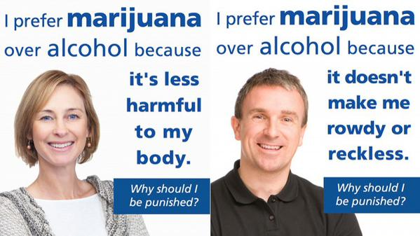I prefer marijuana over alcohol because…