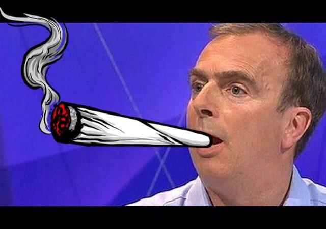 Anti-Cannabis Propagandist Peter Hitchens Smoking A Joint